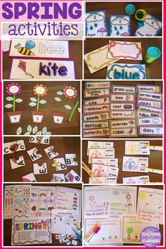 Spring Activities for Preschool and Kindergarten kids. Includes playdoh mats, word cards, clip cards, puzzles, worksheets, and more!
