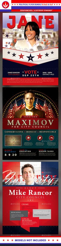 Political Flyer Template Bundle   Flyer Template Graphics And