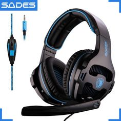 SADES SA-810 3.5mm Wired Gaming Headset Game Headphones Over Ear with Microphone for PC Laptop PS4 Mobile Phone Gamer SA903 #Affiliate