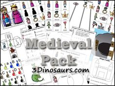 Castle Unit: Free Medieval Pack with over 215 pages of activities for ages 2 to 8 from 3 Dinosaurs Fairy Tale Theme, Fairy Tales, Chateau Moyen Age, Preschool Themes, Preschool Learning, Teaching, Learning Resources, Tapestry Of Grace, Dragons
