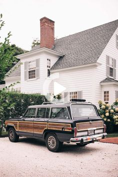 Even in the thick of the fall season, we can still smell the salty, ocean air of Martha's Vineyard. From the fishing village of Menemsha to the beach at Aquinnah and the farms of Chilmark, there's something idyllic around every turn of... #cars Martha's Vineyard, Vintage Jeep, Vintage Cars, Jeep Wagoneer, Cute Cars, Future Car, Classic Trucks, Amazing Cars, Awesome