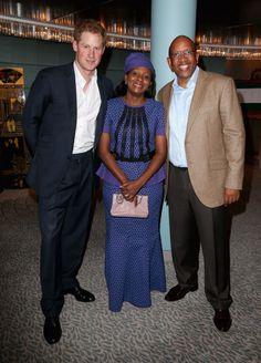 Prince Harry, Princess Mabereng and Sentebale founding patron Prince Seeiso Bereng Seeiso. Chris Jackson, Getty Images for Sentebale.