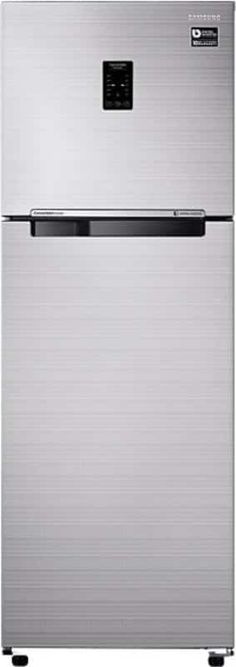 Store food and drinks under optimal temperature conditions in the Samsung RT30K3723S8/HL Double Door Refrigerator. With a 3 star rating, this fridge ensures an energy efficient operation. In addition, it has a storage capacity of 275 L that enables y...