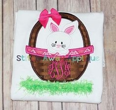 Easter BunnyBasket Applique - 3 Sizes! | Easter | Machine Embroidery Designs | SWAKembroidery.com Stitch Away Applique