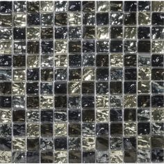 Shop Emser 12-in x 12-in Vista Freddo Glass Mosaic Square Wall Tile (Actuals 12-in x 12-in) at Lowes.com