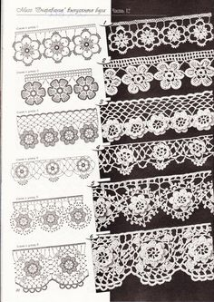 Irish crochet lace edgings with roses p20 (Duplet 112) ~~ LOVE Nr 5