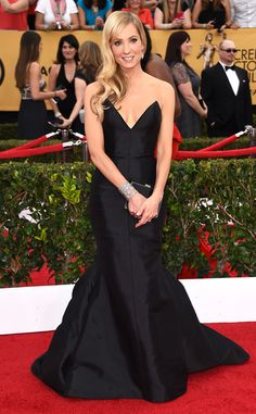 Joanne Froggatt Shows Off the ''Only Diamond She Owns'' on the 2015 SAG Awards Red Carpet, Wishes She Was ''a Bit Cooler''  Joanne Froggatt, SAG Awards