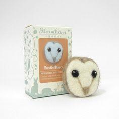 Needle Felting Brooch Kit - Owl