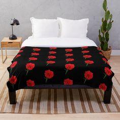 Framed Prints, Canvas Prints, Art Prints, Red Carnation, Carnations, Comforters, Blanket, Printed, Bed