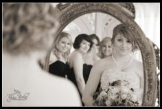 Bride and her bridesmaids waiting to walk up the aisle. . . #BlackHillsReceptions
