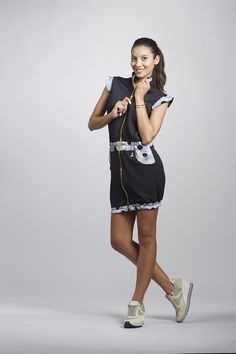 Sporty chic Womens Sexy High Waisted zipped dress ..... choose the closures you need without sacrificing comfort for a fashion edge.