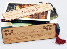 Things You Can Do With a Laser System. Laser Engraved Wood Veneer Bookmarks
