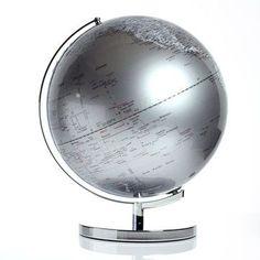 dark silver globe light