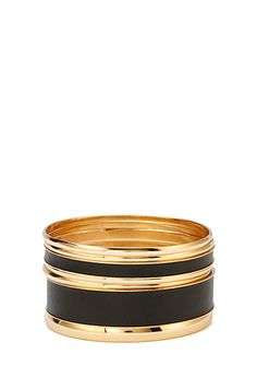 Faux Leather & Metal Bangles | Forever 21 Canada
