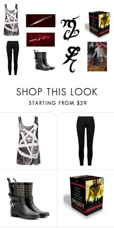 """The Ultimate Immortal Instruments Fan Outfit"" by polyvore-books ❤ liked on Polyvore featuring Disturbia, Only Hearts, Burberry and Stele"