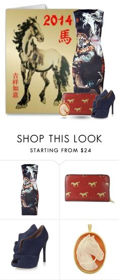 """""""2014: Year of the Horse"""" by jasminerb ❤ liked on Polyvore featuring Roberto Cavalli, FC Select Vegan Bags, Nine West, Del Gatto, contest, ootd, newyear, spring2014 and yearofthehorse"""