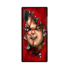 Red Chucky Childs Play Samsung Galaxy Note 10 Plus Case   Miloscase Chucky, Galaxy Note 10, Kids Playing, Phone Case, Perfect Fit, Halloween Face Makeup, Samsung Galaxy, Children, Red