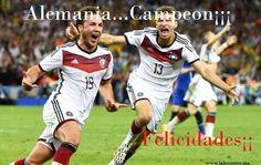 Alemania pone fin al reinado de España y es nuevo campeón del mundo Alemania Campeón, hasta siempre Brasil 2014; Rusia 2018 ¡sorpréndenos!   El mejor equipo del Mundial, el favorito, el que más anotó, el que menos goles recibió, conquistó el título ante el Argentina de Messi Alemania ganó la Copa del Mundo por cuarta vez en su historia al batir a la Argentina de ... Ver más…