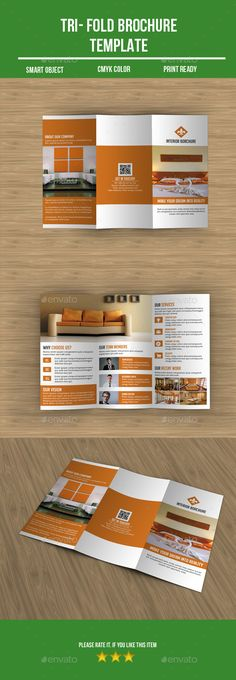 Interior Design Square 3-Fold Brochure V03 Brochure template - interior design brochure template