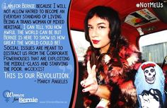#NotMeUs  Bernie is the President we Need!  Well said, Marcy Angeles!