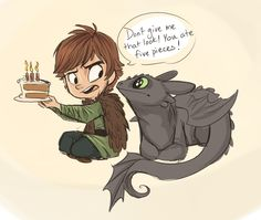 Happy Birthday Hiccup by sharpie91.deviantart.com on @deviantART. This is so adorable.