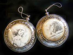 deququ decoupage: Medaliony vintage