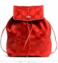 Coach Getaway Signature Packable Backpack Red
