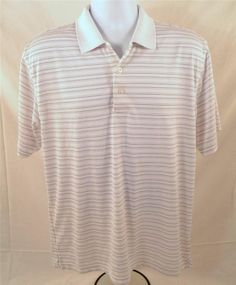 PGA Tour Men's Size Medium Short Sleeve 100% Polyester Golf Shirt #PGATour #Golf