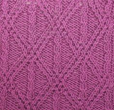 Braided Lattice with Mock Cables utilizes twisted stitches...no cable needle required.  It is located in the Cables and Twisted Stitches category of your Pick-A-Stitch Digital Knitting Stitch Library.