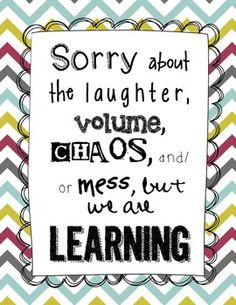 """""""Sorry about the mess"""" Classroom Sign {FREEBIE}"""