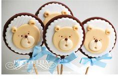 Teddy bear belgian chocolate Pops / pirulitos de chocolate belga