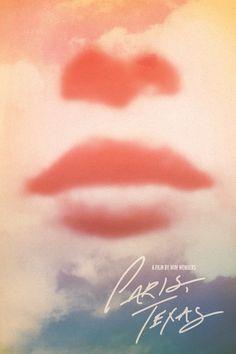 "Poster de ""París, Texas"" de Wim Wenders hecho por Brandon Schaefer aka ""SeekandSpeak"""