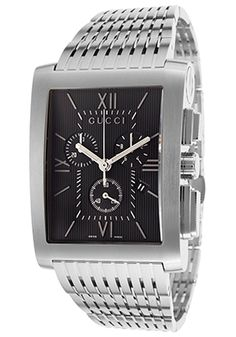 G-Metro 8600 Series Stainless Steel Chronograph Watch from Gucci Watches on Gilt Luxury Watches, Rolex Watches, Watches For Men, Black Stainless Steel, Stainless Steel Watch, Gucci Watch, Tie Accessories, Gucci Men, Gucci Black