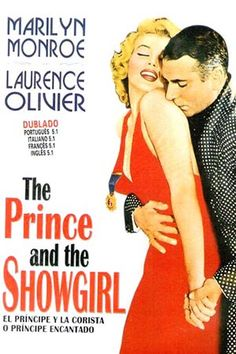 "1957: Marilyn Monroe movie poster for the film ""The Prince and the Showgirl"" starring Laurence Olivier and Marilyn Monroe"