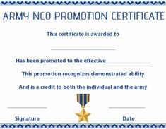 Promotion Certificate Template : Free Templates for Students, Employees & Army - Template Sumo Warrant Officer, Certificate Templates, Promotion, Sumo, Students, Free