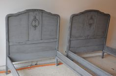 painted twin beds