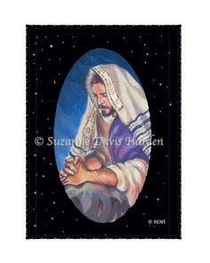 """Inspirational Greeting Card """"Christ Prays For Us"""" on Etsy, $5.99, by Artist Suzanne Davis Harden. Inspired by the scripture: """"Christ Jesus ... is at the right hand of God, who indeed is interceding for us. (Romans 8:34)"""