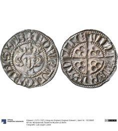 England: Edward I. Münze Edward I. (1272-1307), König von England, Königtum, Münzherr 1280-1281 Land: Großbritannien (Land) Region: England (Region) Münzstätte/Ausgabeort: Bristol Nominal: Sterling, Material: Silber, Druckverfahren: geprägt Gewicht: 1,35 g Durchmesser: 20 mm