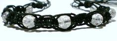hemp bracelet hemp anklet crackle glass by goodolddayshempshop, $5.00