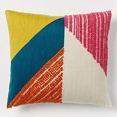 Angled Crewel Pillow Cover #westelm