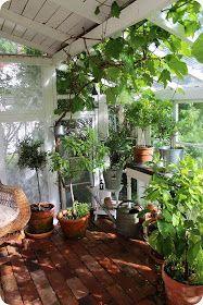 LILLA BLANKA: Växthus ~ Vintage greenhouse