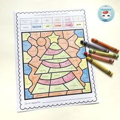 French Christmas Color by Sound Worksheets: fun and engaging way to have students work on French phonics and develop critical thinking skills! Core French, French Class, French Lessons, Read In French, French Worksheets, French Christmas, French Resources, French Immersion, Critical Thinking Skills