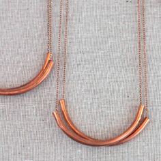 Copper tube necklace - Gather Goods Co - Raleigh, NC