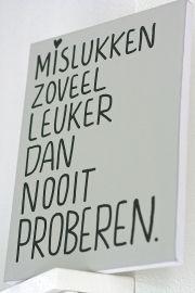 Kiz Canvas - Mislukken zoveel leuker ....   Kiz Canvas tekst schilderijen   Label123