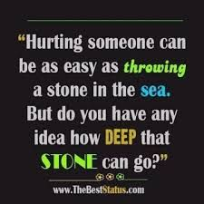 People don't realize how much they hurt others, or is it that some just simply don't care?