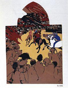 La corsa - Siena - Duilio Cambellotti 1932   #TuscanyAgriturismoGiratola