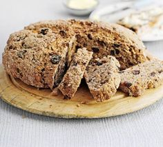 Fruit & spice soda bread - A traditional Irish loaf that uses bicarbonate of soda instead of yeast - this version is sweetly spiced with fruit and oats Caramel Apple Crumble, Caramel Apples, Bbc Good Food Recipes, Bread Recipes, Flour Recipes, Pistachio Bread, Muffins, Soda Bread, Irish Recipes