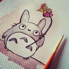 Watercolor Totoro