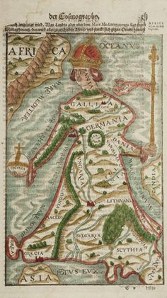 BOOKTRYST: Three Strange And Beautiful 16th Century Fantasy Maps, Another From 1617