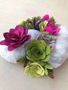Faux succulent plant arrangement by miasole on Etsy
